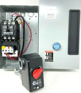 Air Compressor Magnetic Starter 5 Hp 7 5 Hp 230 Volt 1 Phase W Pressure Switch