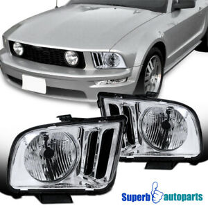 For 2005 2009 Ford Mustang Gt500 Gt500kr Headlights Head Lamps Pair Left right