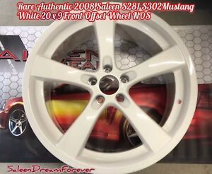 Rare 05 09 White Saleen S281 S302 Mustang Forged 5 Spoke 20 X 9 Front Wheel Ford