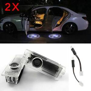 2pcs Led Car Door Light Logo Welcome Courtesy Lighting Lamp Projector For Bmw