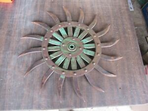 Vintage John Deere Farm Equipment Cultivator Wheel 19 Diameter Lot 21 7 e