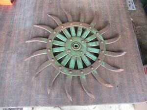 Vintage John Deere Farm Equipment Cultivator Wheel 19 Diameter Lot 21 7 h