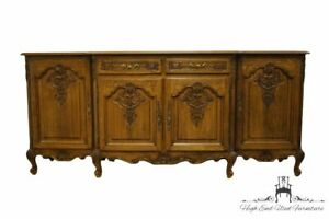 Vintage Antique Walnut Louis Xvi French Provincial 87 Sideboard Buffet