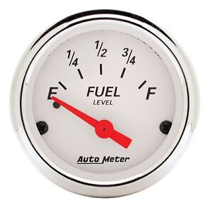 Autometer 1318 Arctic White Fuel Level Gauge