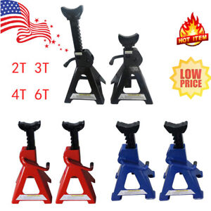 2 3 4 6 Ton High Lift Jack Stands 2 Pieces Car Auto Truck Garage Tools Set Us