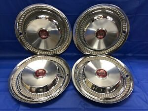 Vintage Set Of 4 1955 Buick 15 Hubcaps Century Special Good Condition