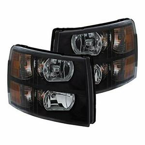 Anzo 111393 For 2007 2013 Chevrolet Silverado Crystal Headlights Black