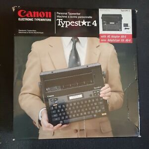 Vintage Canon Typestar 4 With Original Box And 2 Canon Ink Ribbons