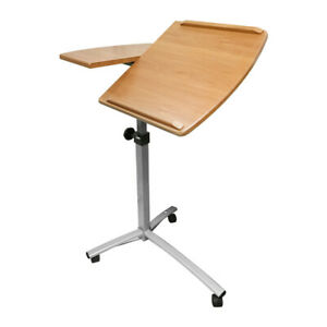 26 40 Adjustable Angle Height Rolling Laptop Desk Cart Hospital Table Stand