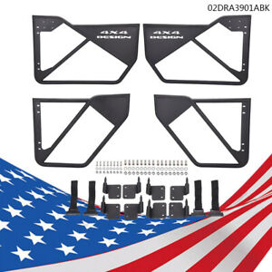 Iron Tube Door Car Accessories Laches 4pcs For 07 18 Jeep Wrangler Jk 4 Dr