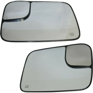 Pair Set Of 2 Mirror Glasses Left and right Heated For Ram Truck Lh Rh 1500