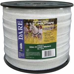 Dare 1 1 2 In X 656 Ft Polyethylene Electric Fence Poly Tape 2576n 1 Each