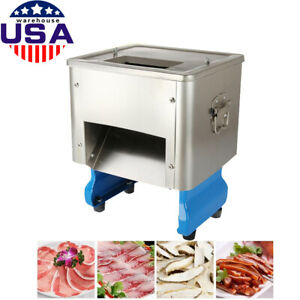 Commercial 2 5mm Desktop Electric Meat Shredding Slicing Cutting Machine Auto Us