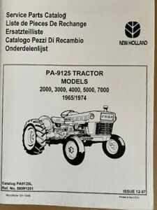 Ford Service Parts Catalog Tractor Series 2000 Through 7000 2 Large Volumes