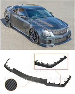 Eos For 09 15 Cadillac Cts V Carbon Fiber Package Front Bumper Lip Splitter