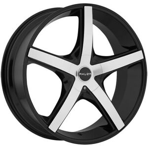 Akuza 848 Axis 22x8 5 5x112 5x4 5 45mm Black machined Wheel Rim 22 Inch
