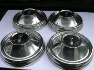 4 Vintage 66 70 Plymouth 426 Hemi Road Runner Gtx 9 Dog Dish Poverty Hubcaps