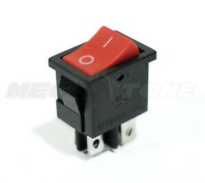 Dpst Kcd1 Red Mini Rocker Switch On off 6a 250vac T85 High Quality Usa Seller