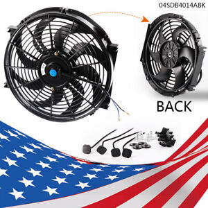 14 Universal Slim Pull Push Racing Electric Radiator Engine 12v Cooling Fan New