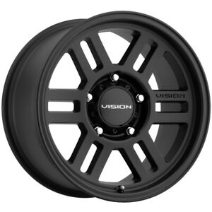 4 vision 355 Manx 2 Overland 16x6 5 5x160 45mm Satin Black Wheels Rims 16 Inch