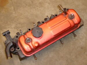 Mg Mgb Cylinder Head 12h4736 With Valve Cover And Thermostat Housing