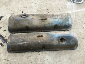 Ford Big Block Engine Motor Valve Cover Set Steel Power By Ford 360 390 427 352