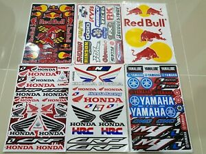 6 Motorcross Supercross Helmet Rockstar Energy Racing Sticker Sponsor Bike Moto