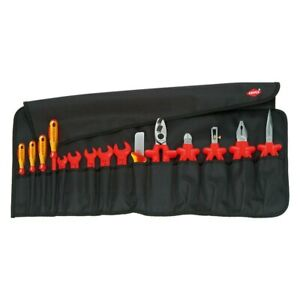 Knipex 15 piece 1000 V Insulated Electricians Tool Set In Tool Roll