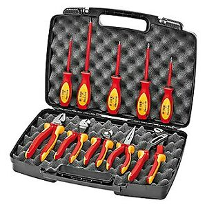 Knipex 10 piece 1000 V Insulated Electricians Tool Set In Hard Case