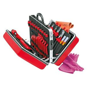 Knipex 48 piece 1000 V Insulated Electricians Tool Set In Red Universal Case