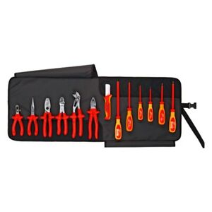 Knipex 13 piece 1000 V Insulated Electricians Tool Set In Tool Roll