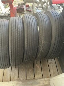 Qty Lot 5 Tires Lester Tire Company Wide Whitewall 8 25 16 Bias Ply Tube Type