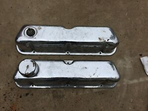 Ford Engine Motor Valve Cover Set Steel 289 302 351w Windsor Chrome Mustang Pair