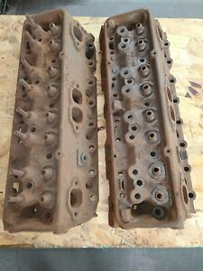 1969 70 Chevy Z28 302 350 3927186 Cylinder Heads Hi Perf Camel Hump