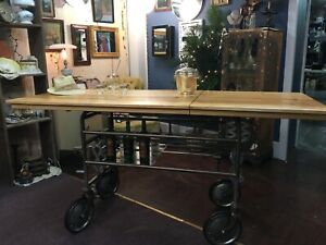 1940 S Gurney Re Styled Into An Industrial Kitchen Island Foyer Table Or Bar