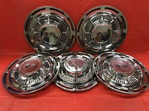 Vintage Set Of 5 1959 Chevrolet 14 Hubcaps Impala Bel Air Delray Nomad Gc