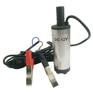 Dc 12v Electric Submersible Pump Water Oil Liquid Fuel Transfer
