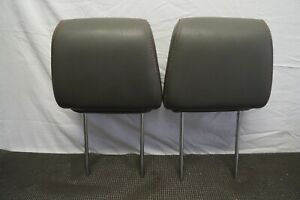 2006 2009 Dodge Ram Sport 1500 2500 Front Row Head Rest Headrests Gray Leather