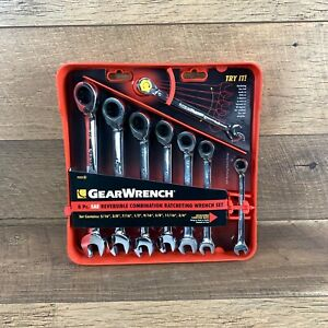 Gearwrench 8 Piece Reversible Ratcheting Combination Wrench Set Sae C1