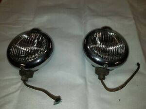 Vintage Model H1 Fog Lights Unity Mfg Co Made In Chicago Usa Selling As A Pair