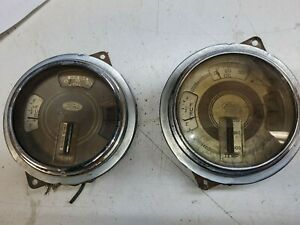 1937 1938 1939 Ford Fuel Oil Amp Temperature Gas Gauge Hot Rat Rod Dash Retro 39