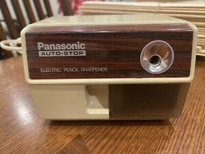 Vintage Panasonic Kp 110 Auto stop Electric Pencil Sharpener Made In Japan Euc