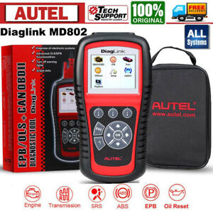 Autel Diaglink Md802 Full Systems Diagnostic Tool Codes Reader Abs Epb Oil Reset