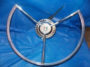 1959 Ford Fairlane 500 Galaxie Ranchero Power Steering Steering Wheel Horn Ring