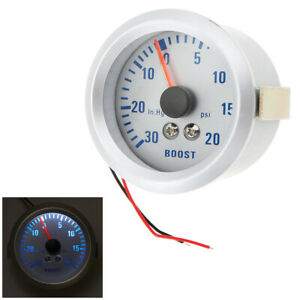 Turbo Boost Gauge Kit For Auto Car 52mm 2 0 30in Hg 0 20psi Meter Tester