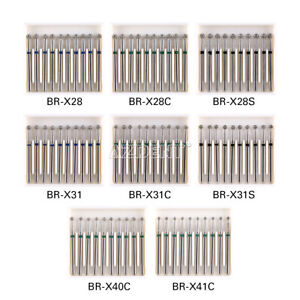 10pcs Azdent Dental Diamond Burs Ball Round Fg 1 6mm For High Speed Handpiece