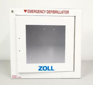 Zoll 8000 0855 Aed Wall Mounted Standard Size Cabinet W Alarm