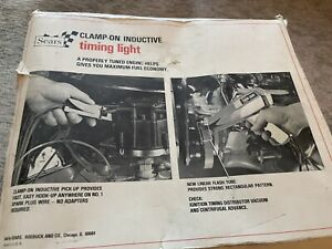 Vintage Sears Inductive Timing Light With Box And Manual No 28 21172