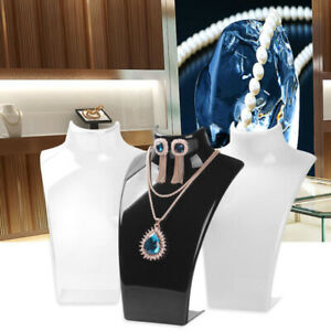 Mannequin Jewelry Necklace Pendant Neck Model Stand Display Rack Holder