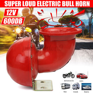 600db 12v Super Loud Sound Electric Air Horn Motorcycle Car Truck Taxi Suv Auto